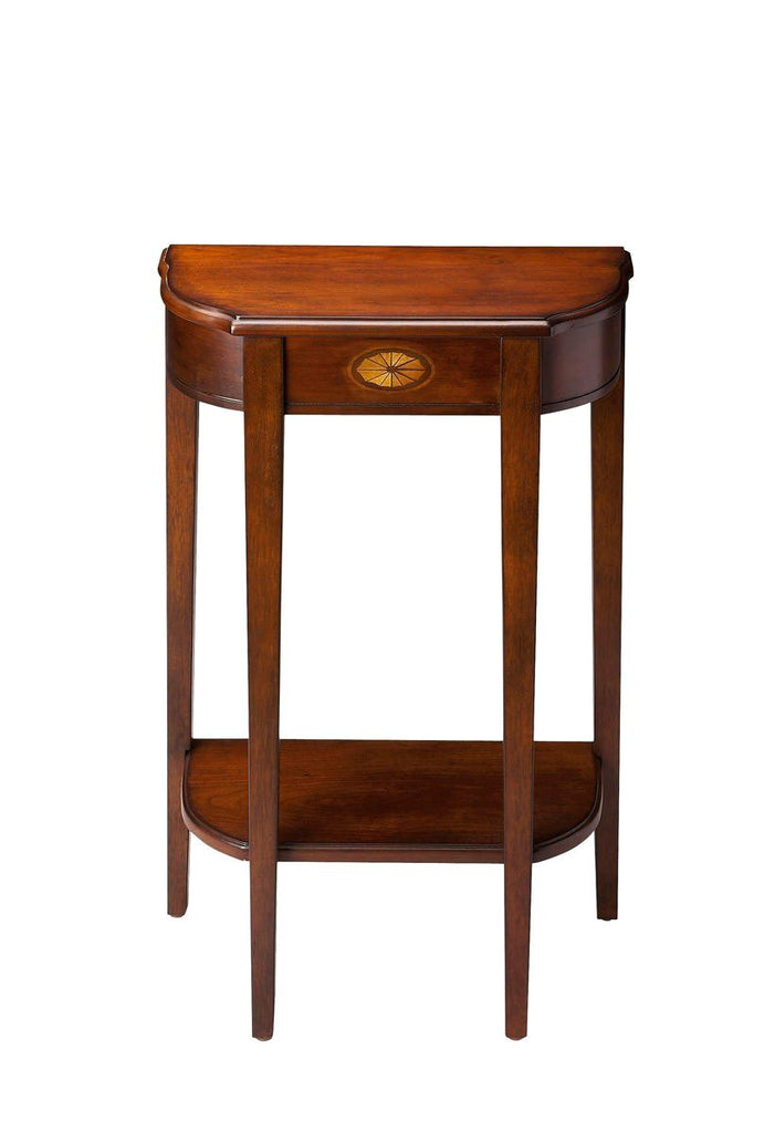 Wendell Traditional Demilune Console Table Dark Brown