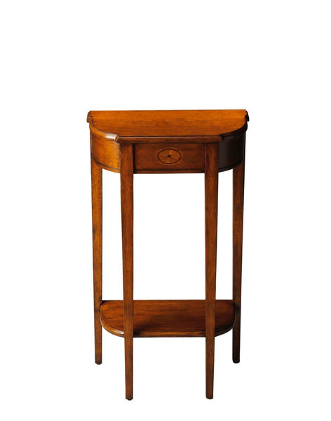 Wendell Traditional Demilune Console Table Medium Brown