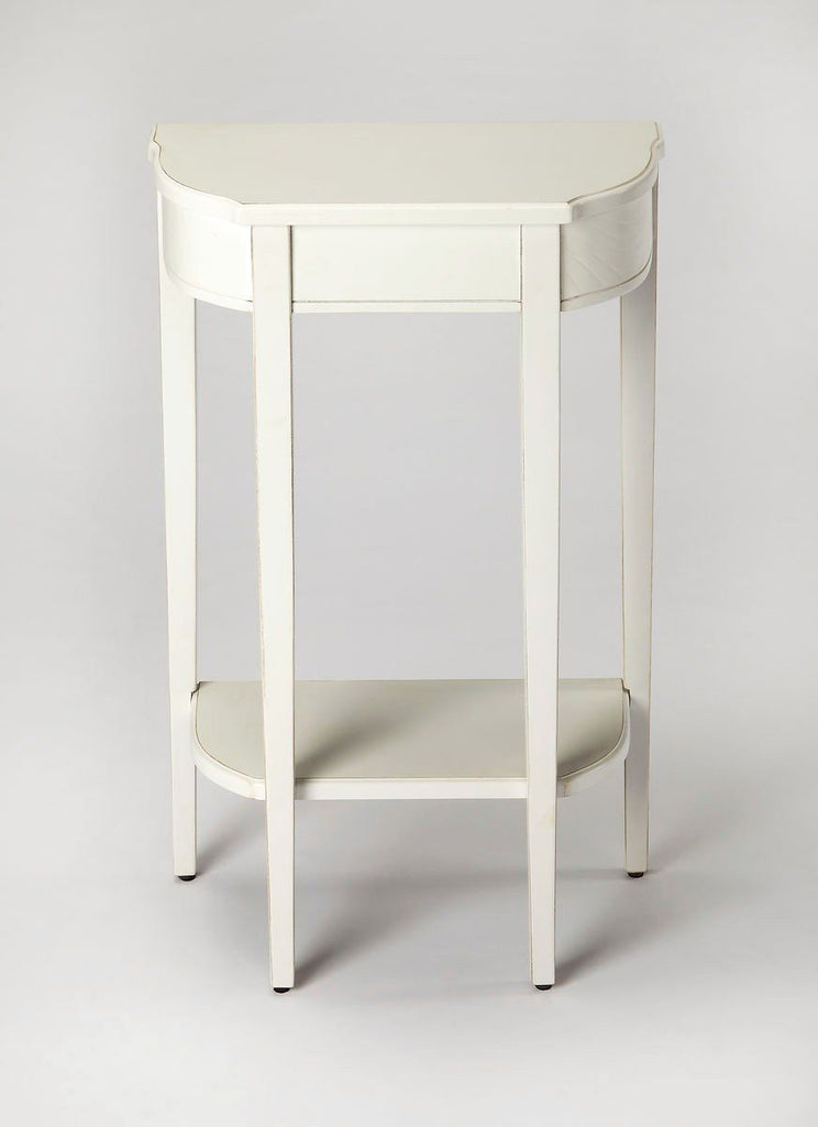 Wendell Transitional Demilune Console Table White