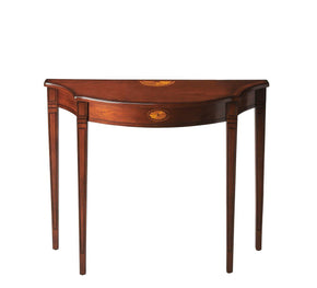 Chester Traditional Demilune Console Table Medium Brown