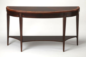 Astor Traditional Demilune Console Table Dark Brown
