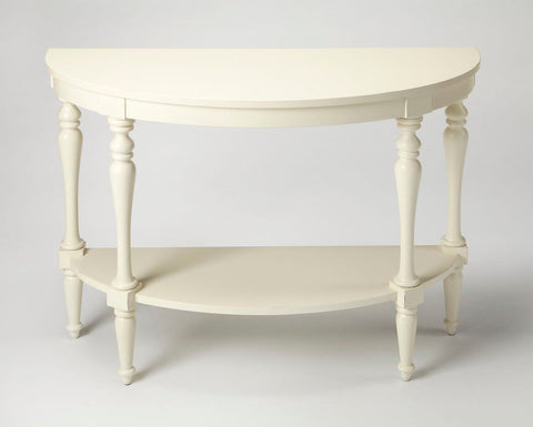 Amherst Traditional Demilune Console Table White