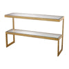 Key Console In Gold Leaf Antique Table