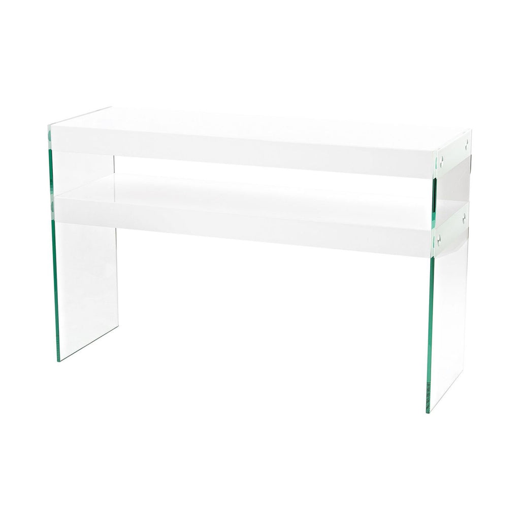 Leen Console Clear,gloss White Table