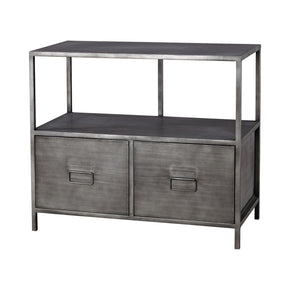 Gunther Industrial Chic Media Unit Graphite Console Table