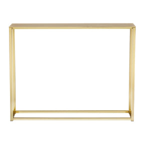 Montclair 48 Console Table In Matte Brushed Gold