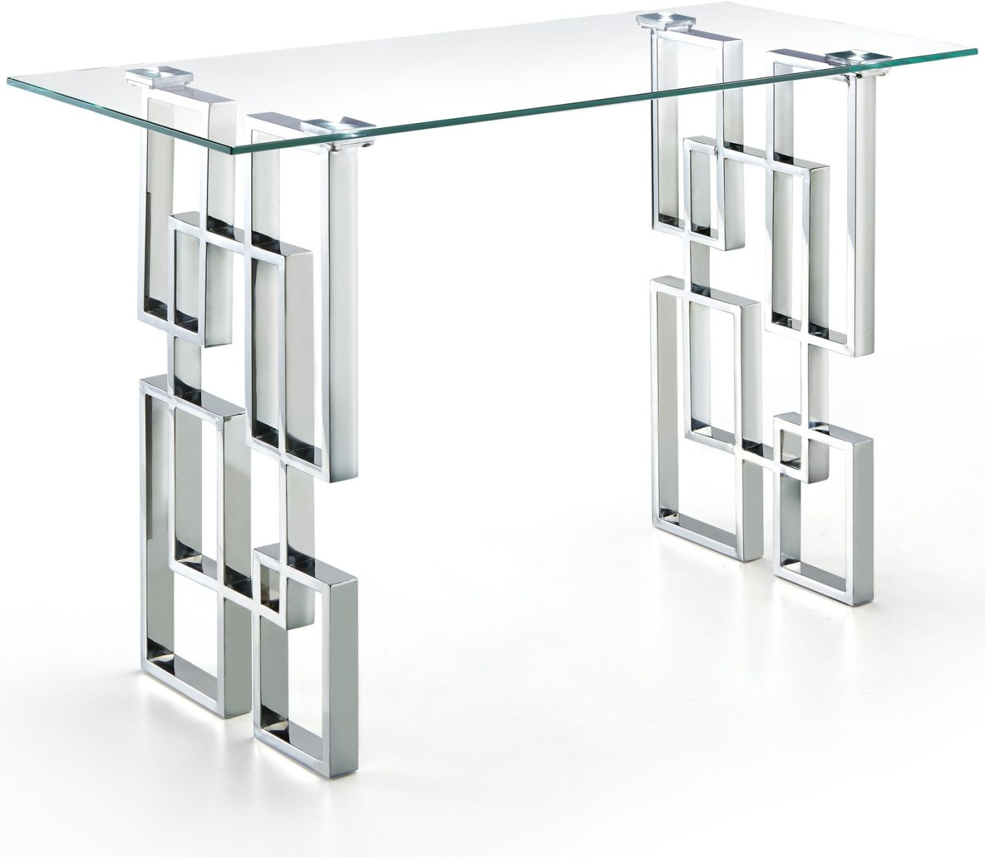 Amazing Deal On Meridian 231 S Alexis Chrome Console Table Glass Top