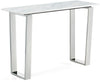 Carlton Chrome Console Table Genuine Marble Top