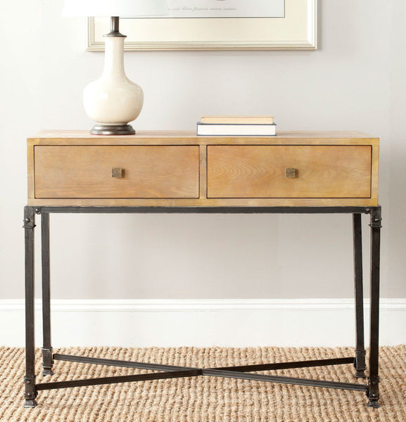 Julian 2 Drawer Console Natural Color Table