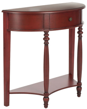 David Console With Storage Drawer Dark Brown Table