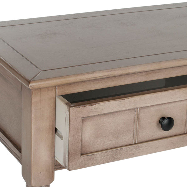 Samantha 2 Drawer Console Vintage Grey Table