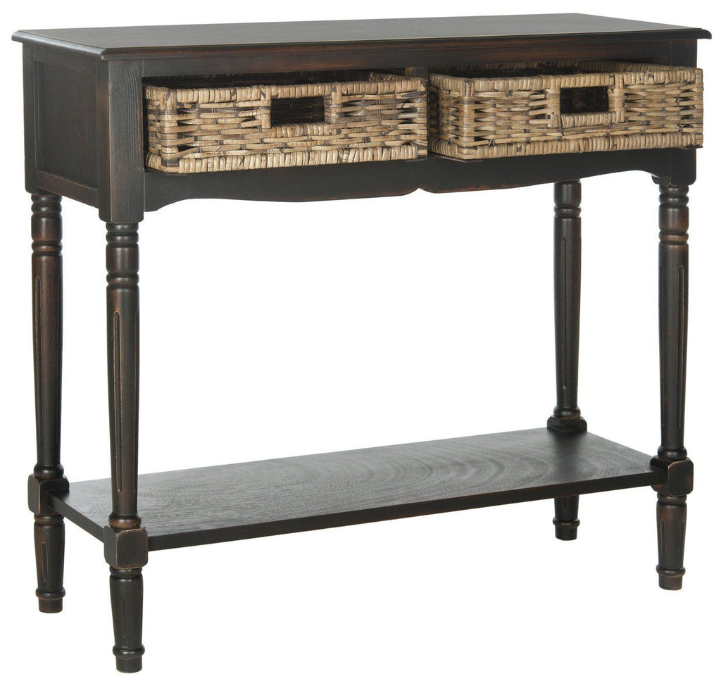 Corbin 2 Drawer Console Brown Table