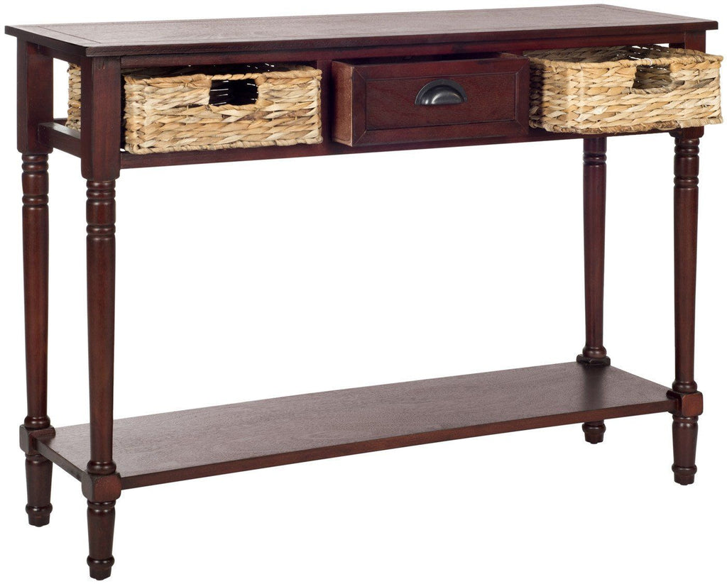 Safavieh Christa Console Table With Storage Cherry At Contemporary