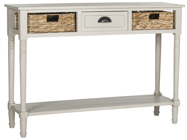 Christa Console Table With Storage Vintage Grey