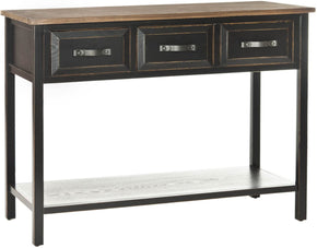 Console Tables - Safavieh AMH6502A Aiden Console Table Black/ Oak | 683726572992 | Only $229.80. Buy today at http://www.contemporaryfurniturewarehouse.com