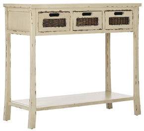 Autumn 3 Drawer Console Vintage Cream Table