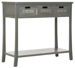 Autumn 3 Drawer Console French Grey Table