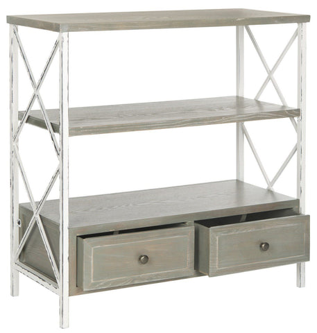 Chandra Console With Storage Drawers French Grey/white Smoke Table