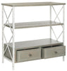 Chandra Console With Storage Drawers French Grey/White Smoke