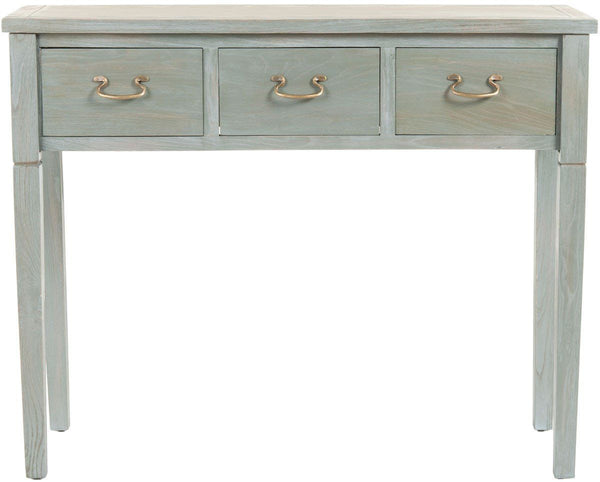 Console Tables - Safavieh AMH6568A Cindy Console With Storage Drawers French Grey | 683726403241 | Only $219.80. Buy today at http://www.contemporaryfurniturewarehouse.com