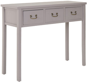 Cindy Console With Storage Drawers Quartz Grey Table