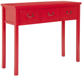 Cindy Console With Storage Drawers Hot Red Table