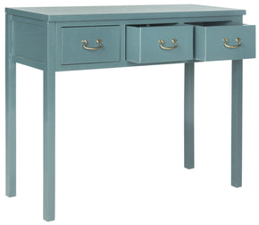 Cindy Console With Storage Drawers Slate Teal Table
