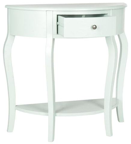 Jan Demilune Small Console Aqua Smoke Table