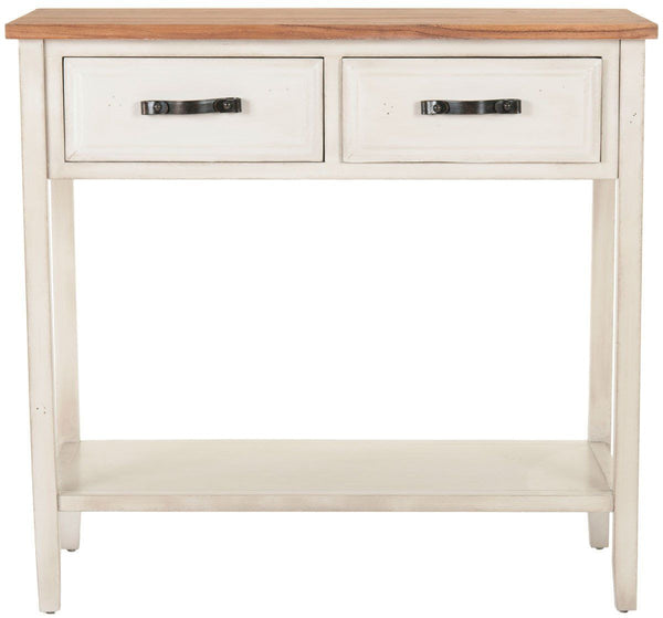 Carol Console With Storage Draawers White Birch Table