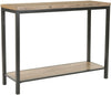 Dennis Industrial Modern Console Table Oak / Metal Legs