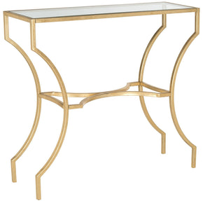 Alphonse Console Gold/tempered Glass Top Table