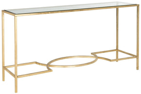 Console Tables - Safavieh FOX2542A Inga Console Gold/Tempered Glass Top | 683726303855 | Only $324.80. Buy today at http://www.contemporaryfurniturewarehouse.com