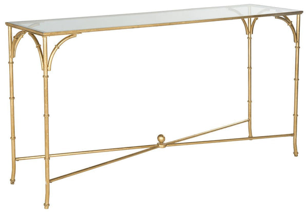 Maurice Console Gold/tempered Glass Top Table
