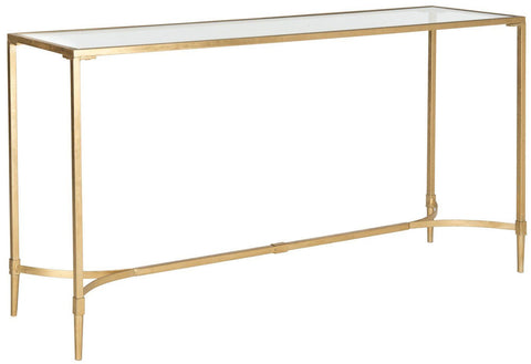 Antwan Console Gold / Tempered Glass Table