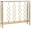 Carolina Console Table Antique Gold Leaf