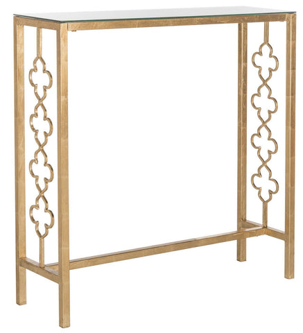 Jovanna Console Table Antique Gold Leaf