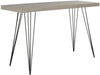 Wolcott Lacquer Console Grey & Black Table