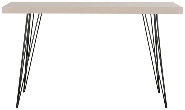 Wolcott Lacquer Console Taupe & Black Table