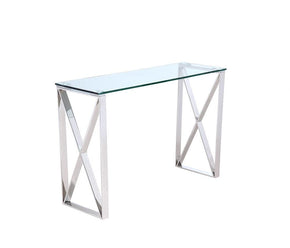 Brooke Console Clear Glass Table
