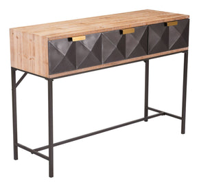 Black Industrial Chic Console Table Antique