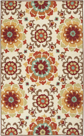 Contemporary, Greens, Indoor/Outdoor, Ivory & Whites, Oranges, Rugs, Tan & Neutrals - Surya SOM7703-23 Storm Area Rug Red, Multi-Color | 764262752397 | Only $79.80. Buy today at http://www.contemporaryfurniturewarehouse.com
