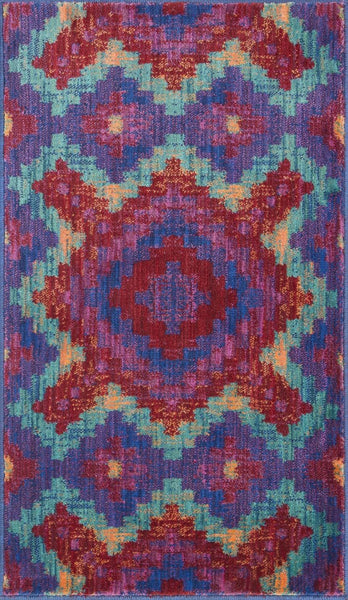 Loloi Isabelle Red / Teal Area Rug