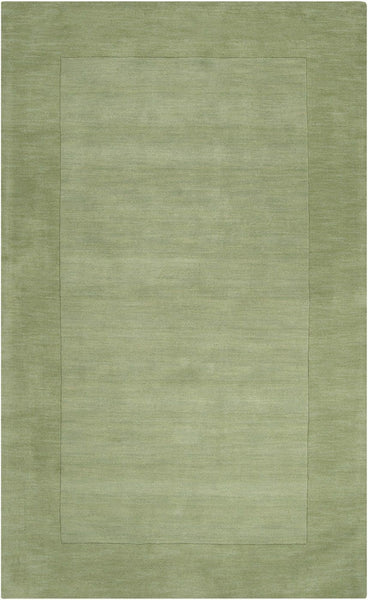 Mystique Solids And Borders Area Rug Green