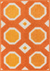 Loloi Terrace Orange / Ivory Area Rug