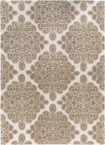 Modern Classics Medallion And Damasks Area Rug Brown