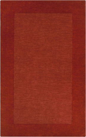 Mystique Solids And Borders Area Rug Orange