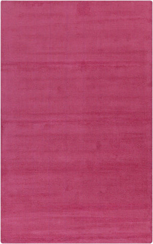 Mystique Solids And Borders Area Rug Pink