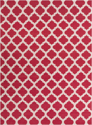 Frontier Geometric Area Rug Red