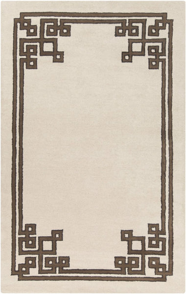 Calaveras Solids And Borders Area Rug Neutral Brown