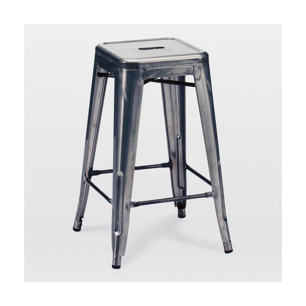 Sundsvall Dark Gunmetal Steel Stackable Counter Stool (Set Of 4) Chair